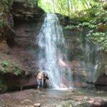 Водопады в каньоне реки Стрыпа найти очень сложно. Нам пришлось идти на звук
