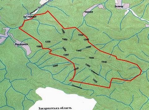 Горгани. Карта