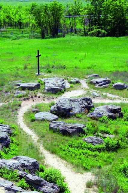 Поклонний хрест, пам'ятник русичам, що загинули в бою з монголо-татарами на річці Калці у 1223 році