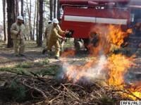 Тренування лісового пожежного загону, Чернігівська область, 13 квітня 2010 року