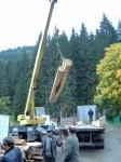 На фото автора: спроба відбудувати греблю біля Музею  лісу і сплаву, 2008 рік. Грошей, як завжди, не вистачило…