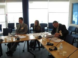 """юрист ГО """"Екологія.Право.Людина"""" Наталія Шпег на круглому столі з ДТКЛ у представництві Світового банку"""