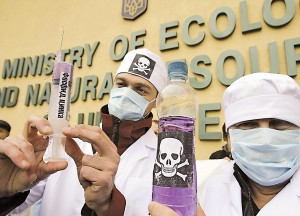 Чи триватимуть протести екологістів проти застосування фосфіду цинку — покаже рішення суду. Фото УНIAН