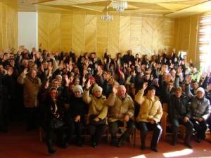 с.Зелене одностайно проголосувало проти будівництва ГЕС на їх території.
